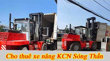 cho thuê xe nâng KCN Sóng Thần